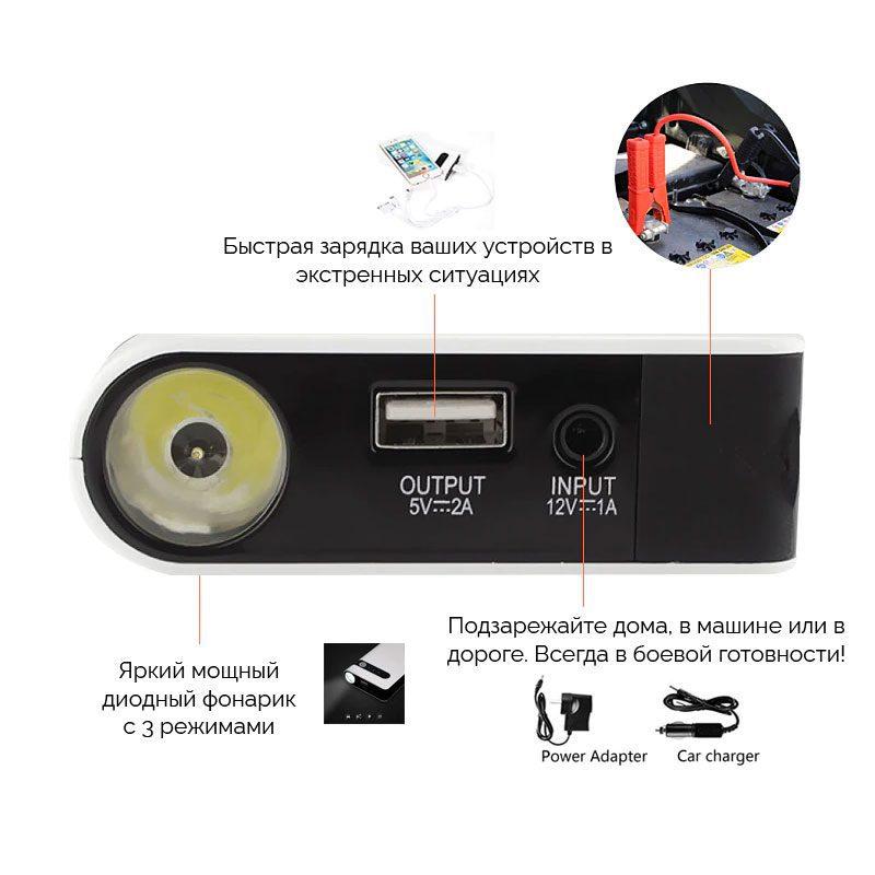 Фото-описание Джамп стартера для автомобиля 12 вольт