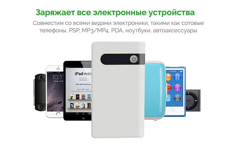 Фото Портативное зарядное устройство для мобильного телефона и планшета и Джамп Стартер