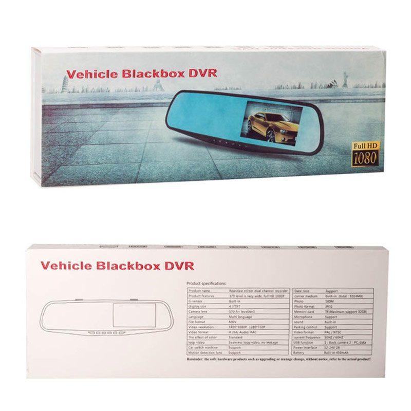 Как выглядит упаковка Зеркала Видеорегистратора Vehicle Blackbox DVR Full HD