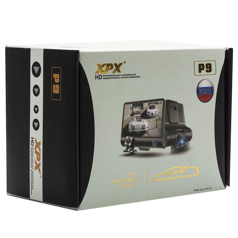 Фото коробки регистратора с задней камерой XPX P9 Full HD 1080p с 3 камерами