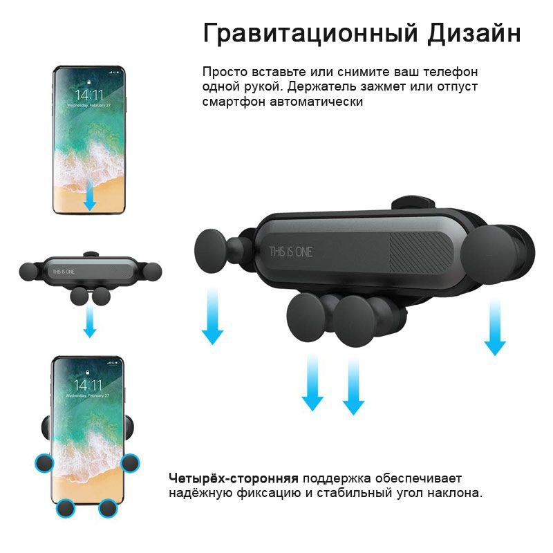 Картинка принцип работы держателя для телефона в авто
