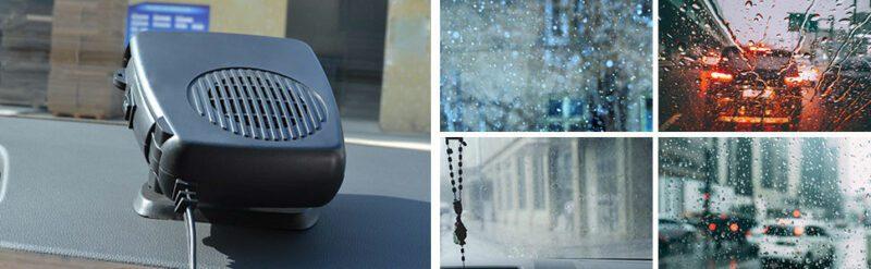Фото Обогреватель в машину в прикуриватель эффективно справляется с запотеванием окон