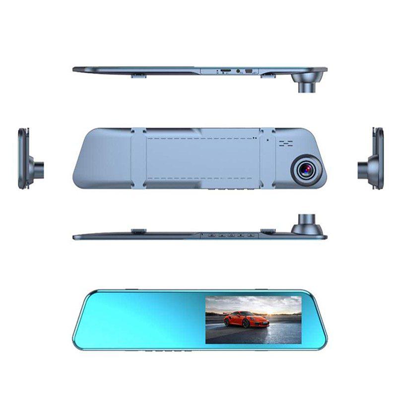 Изображение автомобильного регистратора в виде зеркала со всех сторон