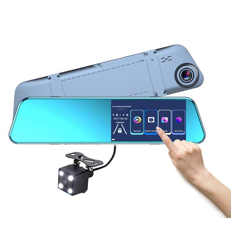 Как выглядит Зеркало Видеорегистратор Vehicle Blackbox DVR с сенсорным экраном 5,2 дюйма