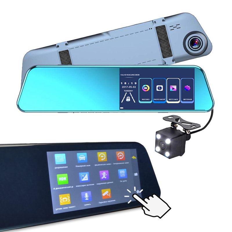 Фото видеорегистратора с пятидюймовым сенсорным экраном