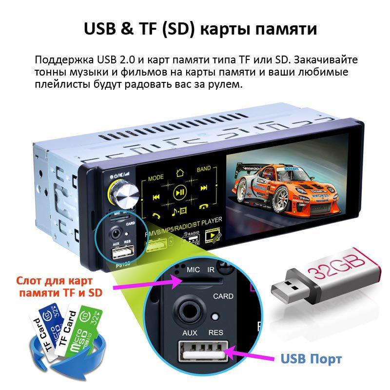 Изображение Магнитолы в авто с поддержкой USB и SD карт