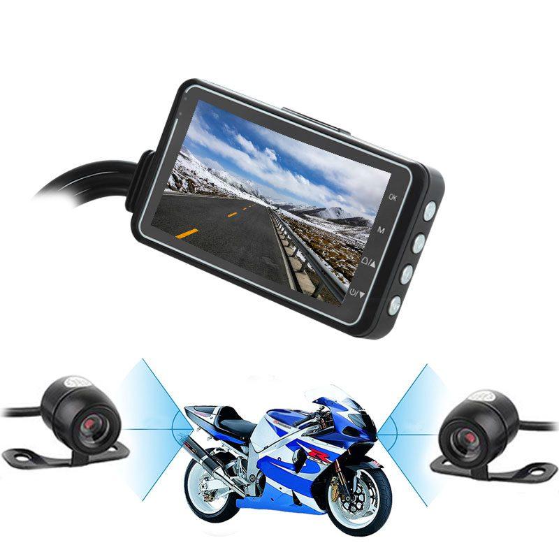 Фото Видеорегистратор на мотоцикл с двумя камерами водонепроницаемый
